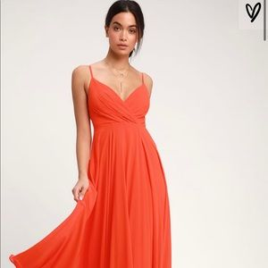 "Lulu's ""All About Coral"" Dress"